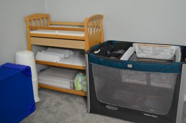 changing table and pack n' play